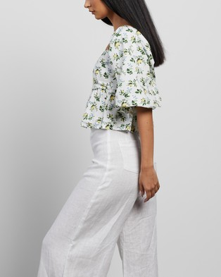 Faithfull The Brand - Quincy Top Cropped tops (Bendita Floral Print)