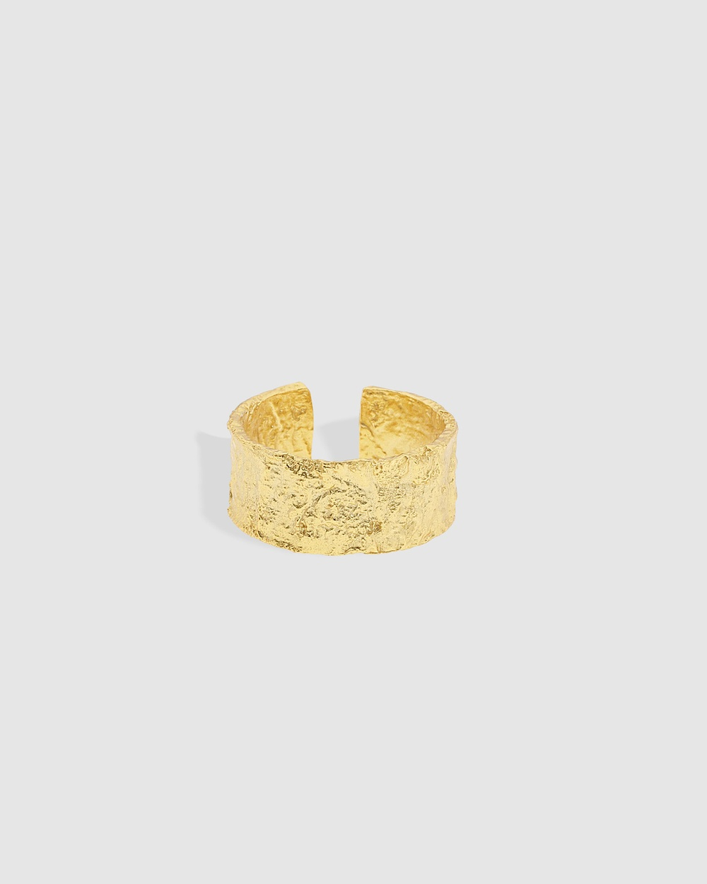 Arms Of Eve Eros Gold Textured Ring Large Jewellery Gold