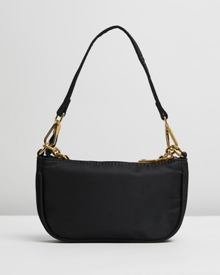 PETA AND JAIN - Portia Mini Shoulder Bag - Handbags (Black Nylon) Portia Mini Shoulder Bag