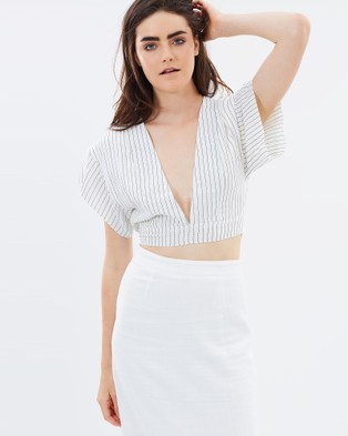 DELPHINE – Mind Games Top – Cropped topsWhite