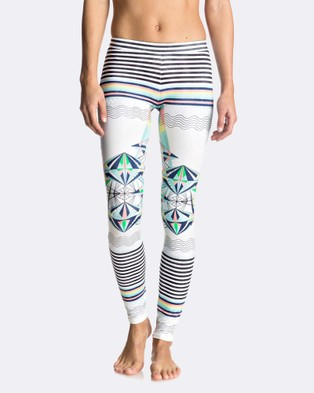 Roxy – Womens Keep It Roxy Surf Legging – Swimwear MARSHMALLOW PSYCHE P