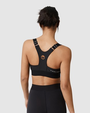 Tully Lou Essential T Bar Crop - Compression Tops (Black)