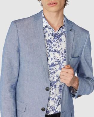 Jack London Blue Brevin Blazer - Suits & Blazers (Blue)