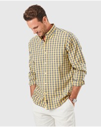 Gazman - Casual Stretch Check Long Sleeve Shirt
