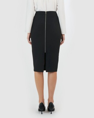 Forcast Dianne Midi Skirt - Pencil skirts (Black)