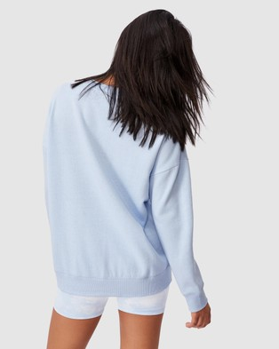 Cotton On Body Active Long Sleeve Fleece Crew Top - Sweats (Baby Blue)