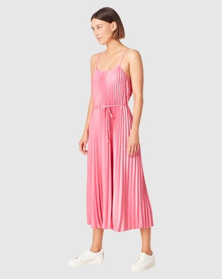 French Connection Pleated Midi Dress - Dresses (FUSCHIA)