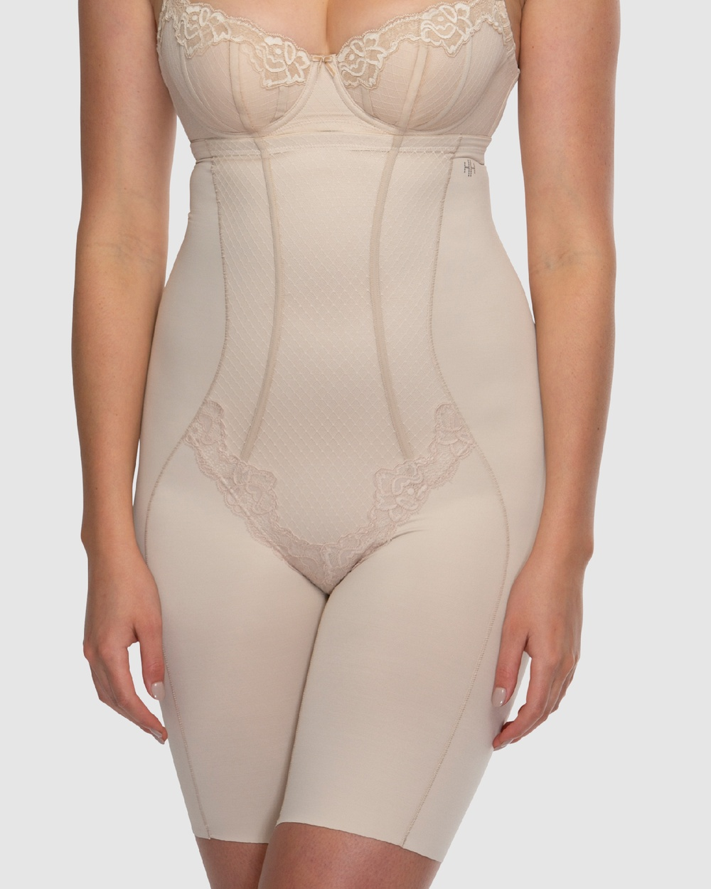 Hush Whisper Firm Control High Waist Thigh Shapers Lingerie Nude / Nude Australia
