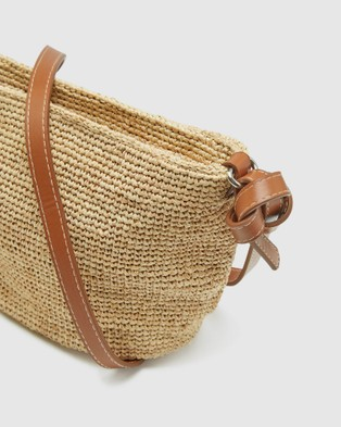 Oxford Laurel Hand Knotted Straw Bag - Handbags (Brown)