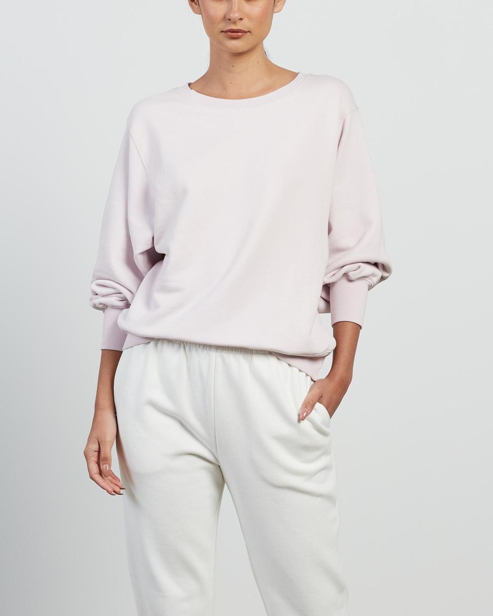 American Vintage Fobye Sweatshirt Sweats Vintage Baby Lilac