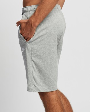 Nike Sportswear Club Jersey Stretch Shorts Dark Grey Heather, Matte Silver & White