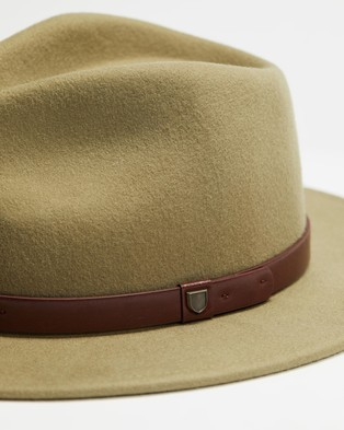Brixton THE ICONIC EXCLUSIVE   Messer Fedora - Hats (Light Olive)