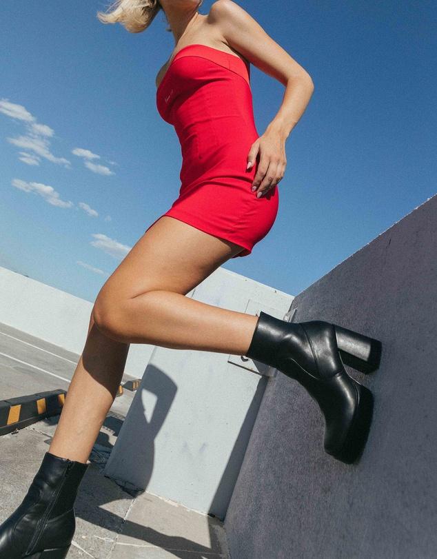 Women Python Platform Ankle Boots