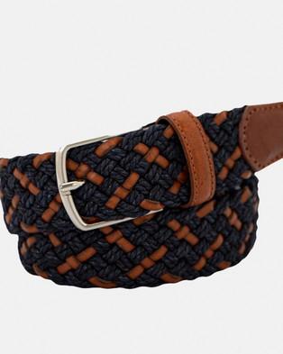 Buckle Monterey 35mm Belt - Belts (Tan/Navy)