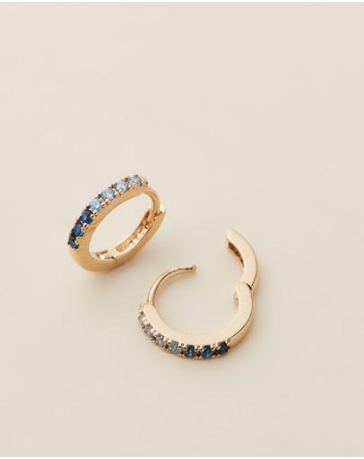 Estella Bartlett Ombre Cz Hoop Earrings Gold Plated