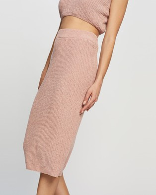 Atmos&Here Venice Knit Skirt - Pencil skirts (Dusty Pink)