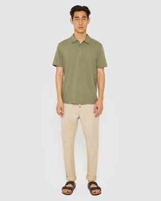 Jag The Hemp Cotton Polo - Shirts & Polos (Avocado )