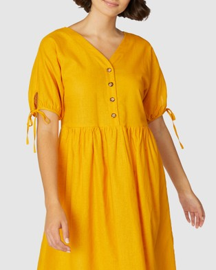 Princess Highway Veronique Dress - Dresses (Yellow)
