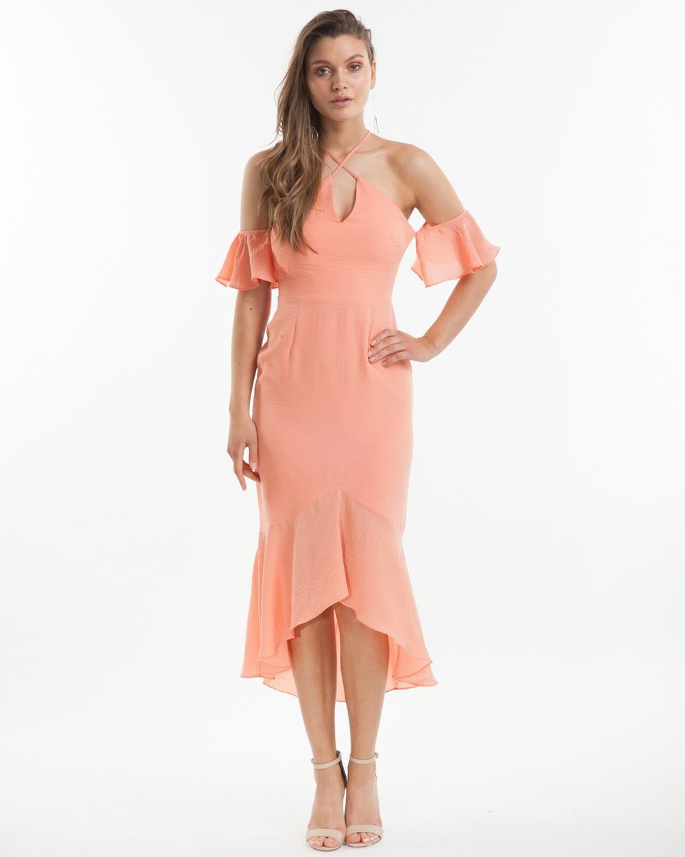 Amelius Mahlia Frill Dress Dresses Peach Mahlia Frill Dress