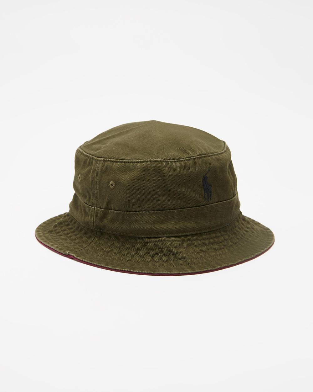 Polo Ralph Lauren Loft Bucket Hat Hats Dark Green