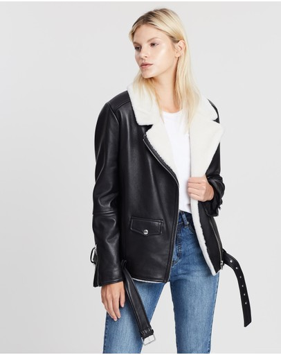16f70dd7d Leather Jackets | Buy Womens Jackets Online Australia- THE ICONIC