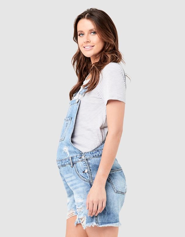 Women Denim Short Overalls