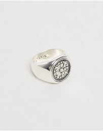 Icon Brand - Columbus Signet Ring - Medium