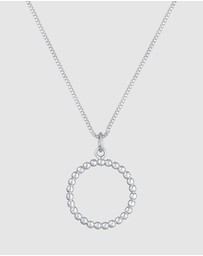 Elli Jewelry - Necklace Box Chain Circle Pendant Geo Basic 925 Stearling Silver