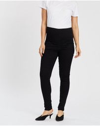 Soon Maternity - Essential Over-Belly Jeans