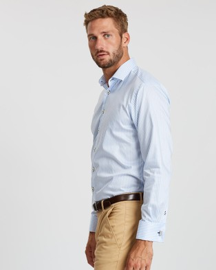 3 Wise Men The Westbury Tailored Shirt - Shirts & Polos (Blue)