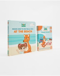 Mizzie The Kangaroo - Mizzie 'Look & Learn' Toddler Gift Set - At The Beach