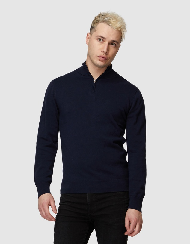 Jack London - Navy Sussex Turtleneck