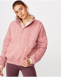 Cotton On Body Active - Quilted Zip-Through Fleece