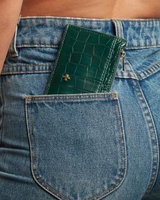 PETA AND JAIN Marley Slim Wallet - Wallets (Green Croc)