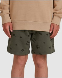 Billabong - Boys Printed Fleece Shorts