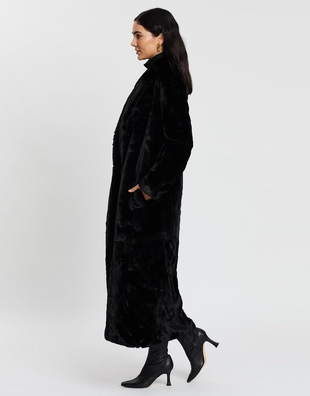 Women Black Bird Coat