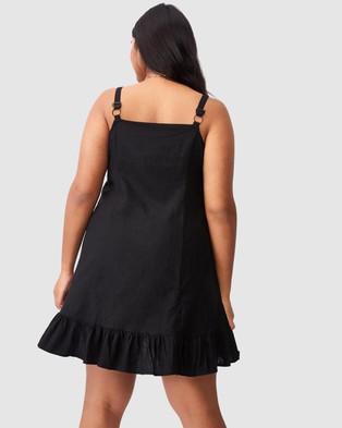 Cotton On Curve Woven Tara Frill Hem Mini Dress - Dresses (Black)