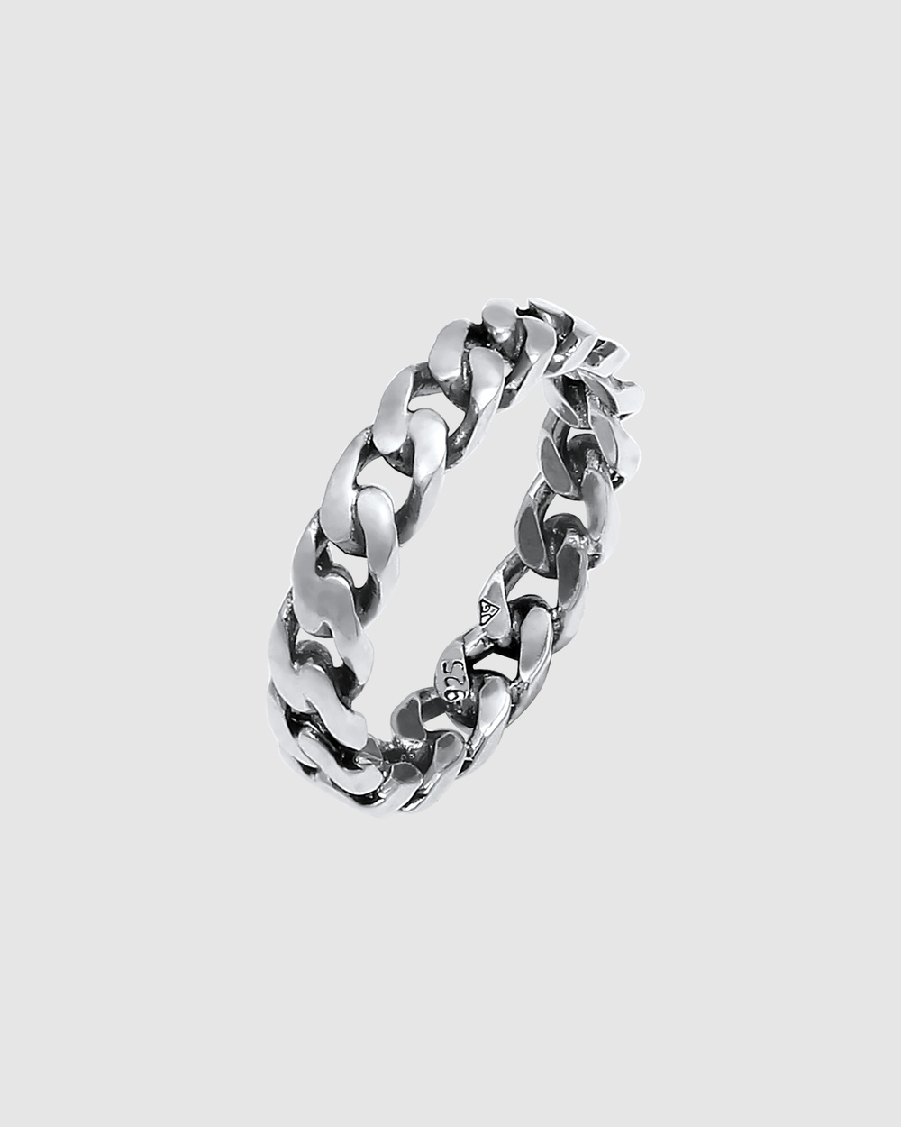 Elli Jewelry Ring Bandring Knot Infinite Twisted Oxidised in 925 Sterling Silver Jewellery Silver