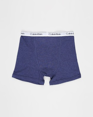 Calvin Klein 2 Pack Modern Cotton Boxer Briefs    Teens - Briefs (Heather Grey)