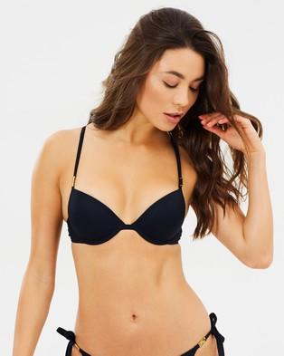 CK Swim – Push Up Bikini Top Black