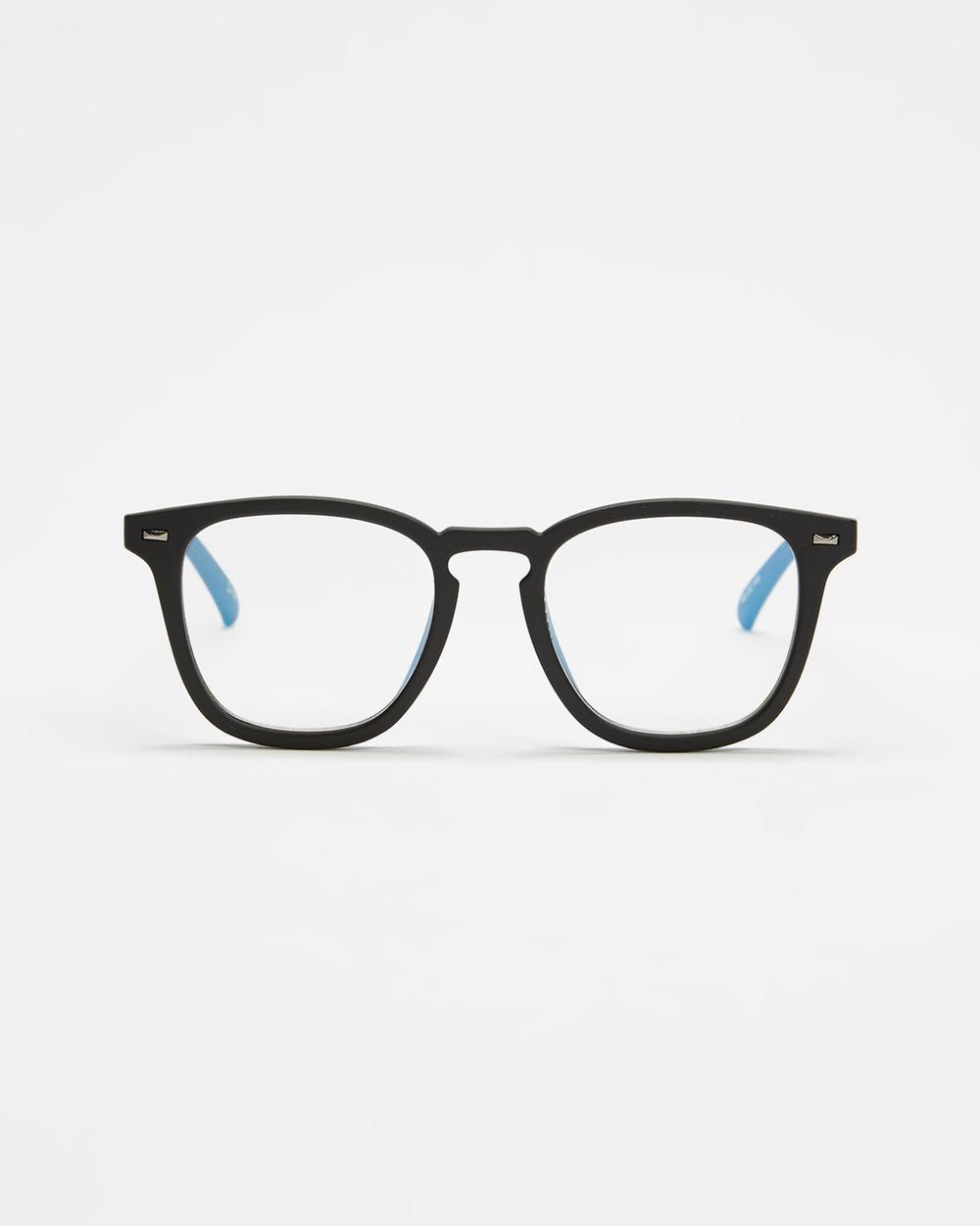 Le Specs No Biggie Blue Light Glasses Optical Black
