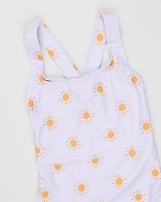 Free by Cotton On Lottie One Piece   Teens - Clothing (Vintage Lilac & Sunrays)
