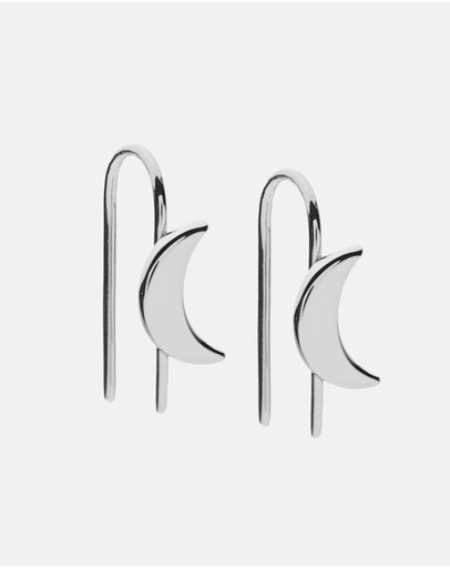 Dear Addison Lunar Earrings Silver