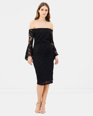 Montique – Indira Lace Dress Black