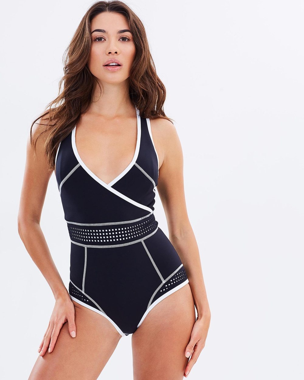 Duskii Waimea Bay Crossover One Piece One-Piece / Swimsuit Black & White Waimea Bay Crossover One-Piece