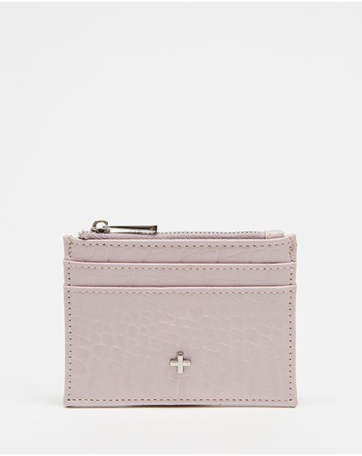 Peta And Jain Ivy Slim Card Wallet Lavender Croc