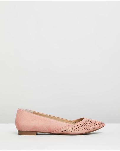 Vionic Carmela Flats Dusty Pink