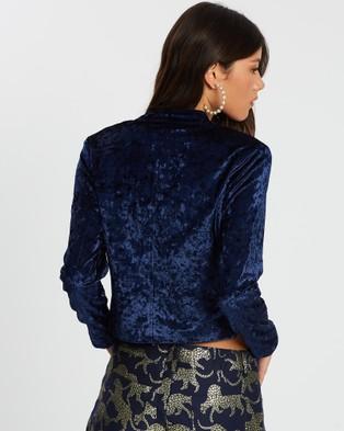 LENNI the label Chromatic Jacket - Coats & Jackets (Navy Velvet)