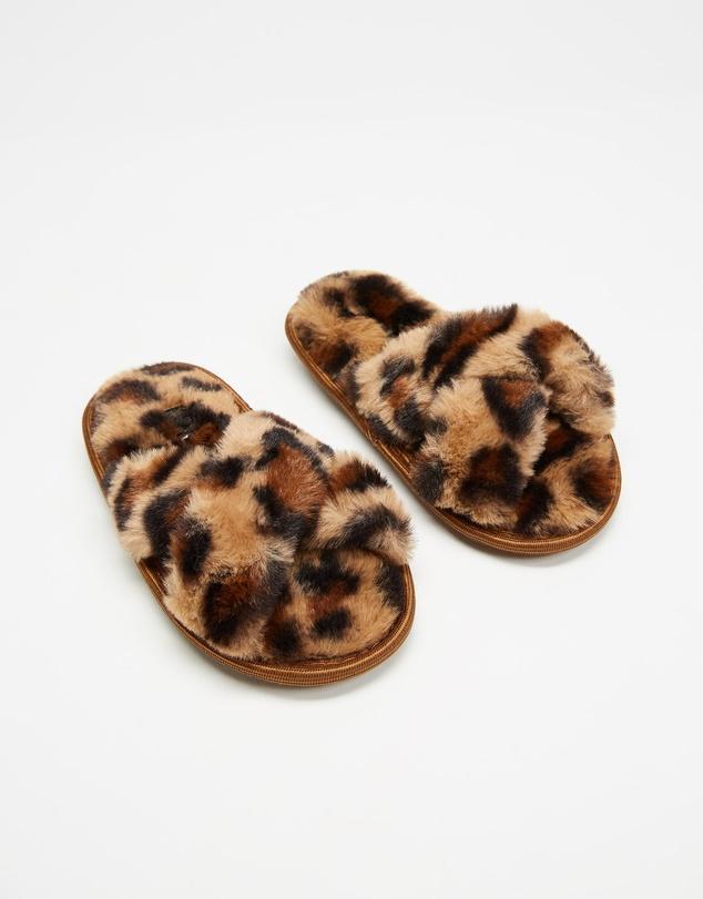 Kids Cheetah Slippers - Kids