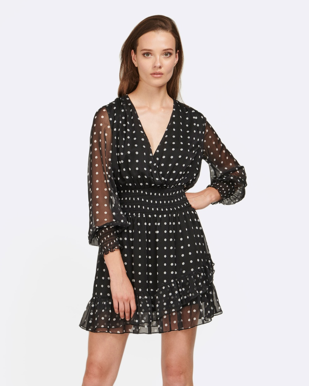 MVN The One Dot Dress Dresses & Onesies Black The One Dot Dress